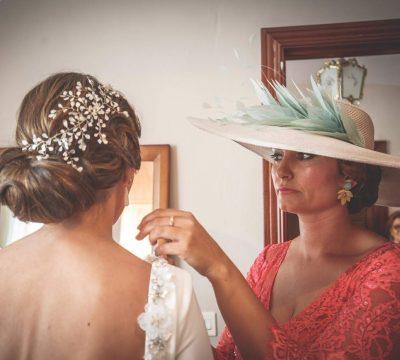 tocado de novia esmalte blanco