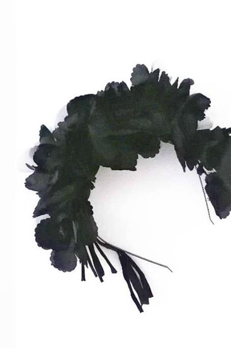 Diadema De Flores Negras