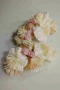 peinas terciopelo novia tocado para crear un look diferente y muy dulce de la novia perfecta