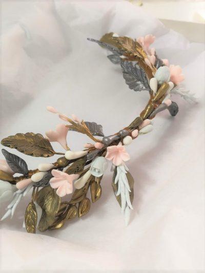 tocado de novia bonito flores online